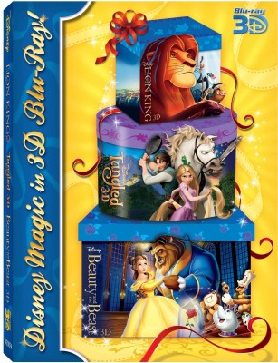 Buy 3D Bluray Pack 3 (The Lion King, Tangled, Beauty And The Beast): Av Media
