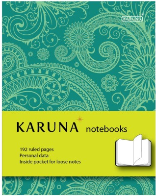 Buy Karunavan Paisley Series Green and Light Green Band Journal Non Spiral Hard Bound: Diary Notebook
