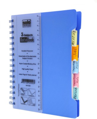 Buy Solo Management 5 Subjects A5 Notebook Spiral Binding: Diary Notebook