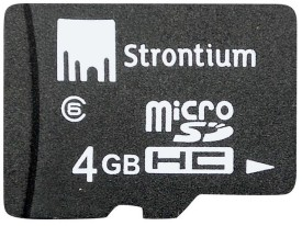 Buy Strontium Memory Card 4 GB MicroSD Card (Class 6): Memory Card