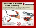 Redbug Wood and Terracotta Jewellery - triangle