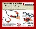 Redbug Wood And Terracotta Jewellery - Triangle