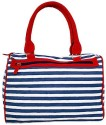 Carry On Bags Canvas Bag Shoulder Bag - Blue, White, Red