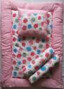 Love Baby Fruit Print Bedding Set - Pink