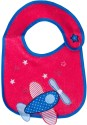 Tollyjoy Velcro Feeding Bib With Embroidery - Red, Blue