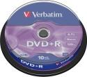 Verbatim DVD+R 10 Pack Spindle - Pack Of 10