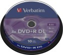 Verbatim DVD+R DL (8.5GB) 10 Pack Spindle - Pack Of 10