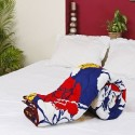 Aapno Rajasthan Red, White And Gold Rose Print Soft Poly Cotton Double Flora Comforter - Double