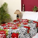 Aapno Rajasthan Leopard And Floral Print Soft Poly Cotton Single Flora Comforter - Single