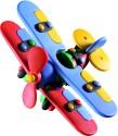 Mic O Mic Small Bi-Plane - Construction Toy - Multicolor