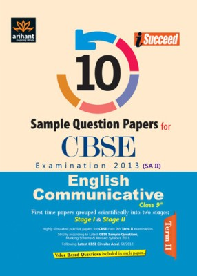 Buy CBSE English Communicative Examination 2013: 10 Sample Question Papers, Term - 2 (Class - 9): Book