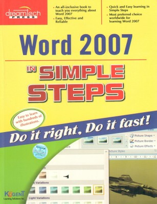 Buy Word 2007 In Simple Steps 01 Edition: Book