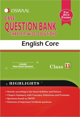 Buy CBSE Question Bank Chapter Wise Solutions - English Core : Class 11: Book