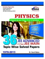 36 Year JEE Advanced Plus 12 Year JEE Main : Physics - Topic Wise Solved Papers: Book