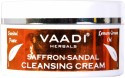 Vaadi Saffron Sandal Cleansing Cream - Lemongrass Oil & Orangepeel Extract - 50 G