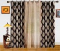 Dekor World Damask Design And Sheer Combo Window Curtain