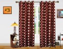 Dekor World Polka Dots Pattern Window Curtain