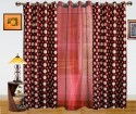 Dekor World Polka Dots And Sheer Combo Window Curtain - CRNDQAY6888PENQY