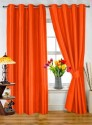 Dekor World Plain Rust Door Curtain