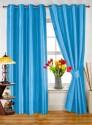 Dekor World Plain Blue Door Curtain