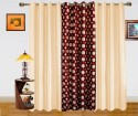 Dekor World Polka Dots And Plain Combo Design Door Curtain - CRNDQAY6TS8BTVWR