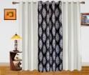 Dekor World Damask And Plain Combo Design Window Curtain - CRNDQAY6AUPZUVWY