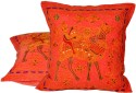 Jaipur Raga Rajasthani Traditional Design Cushions Cover - Pack Of 2