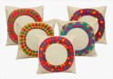Dekor World Polychrome Circle Design Cushions Cover - Pack Of 5