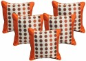 Dekor World Sober Circle And Border Cushions Cover - Pack Of 5 - CPCDQAY6GFHDZ9PF