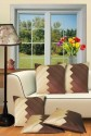 Dekor World Zig-Zag Diagonals Cushions Cover - Pack Of 5