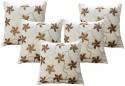 Dekor World Velvet Flower Squence Cushions Cover - Pack Of 5