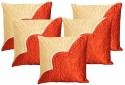 Dekor World Saaz Dekor Quilted Cushions Cover - Pack Of 5