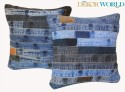 Dekor World Play With Denim Cushions Cover - Pack Of 2