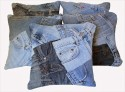 Dekor World Play With Denim Cushions Cover - Pack Of 5