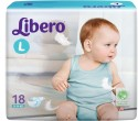 Libero Disposable Baby Diapers - Large - 18 Pieces