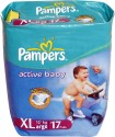 Pampers Active Baby Diaper - Extra Large - 17 Pieces