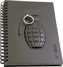 Buy Hit Play Ammo Grenade Notebook Spiral Binding: Diary Notebook