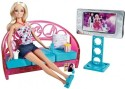 Barbie Couch/Living Room Furniture And Doll