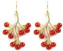 Juvalia Cranberry Metal Drop Earring