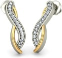 BlueStone The Dhara Earrings White Gold Stud Earring