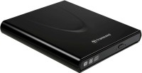 Transcend Slim Portable CD/DVD Writer (Black): External Dvd Writer