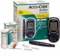 Accu-Chek Active Glucose Monitor With 100 Strips Glucometer - Black