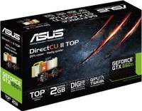 Asus NVIDIA GTX660 TI-DC2T-2GD5 2 GB GDDR5 Graphics Card: Graphics Card