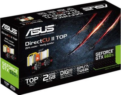 Buy Asus NVIDIA GTX660 TI-DC2T-2GD5 2 GB GDDR5 Graphics Card: Graphics Card