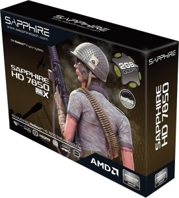 Buy Sapphire AMD/ATI HD 7850 HDMI OC Edition 2 GB GDDR5 Graphics Card: Graphics Card