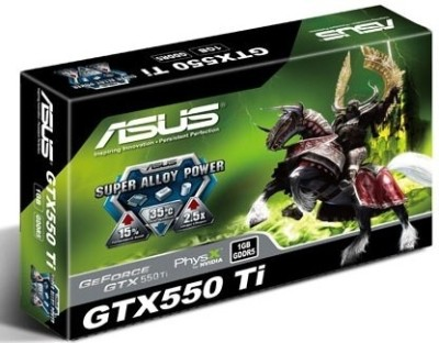 Buy Asus NVIDIA GeForce GTX 550 Ti 1 GB GDDR5 Graphics Card: Graphics Card