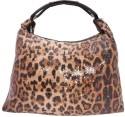 Khoobsurati Glossy Tiger Print Stylish Hand Bag - Brown