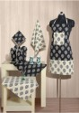 Swayam Grillz Kitchen Linen Set - Pack Of 8 - KLSDMEVBQZNR3GCG