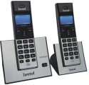 Beetel X77 Cordless Landline Phone - Silver & Black