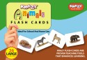 Mind Wealth Krazy Common Animals Flash Cards - Green, Blue, Brown